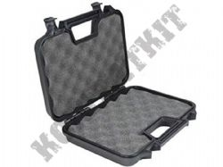 Hand Gun Carry Case Lockable Tactical Black Plastic Padded 300x200x65mm